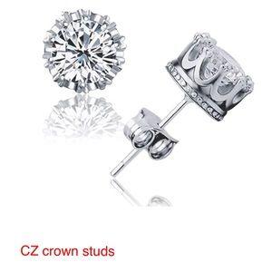 CZ Crown studded earrings